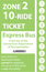 <b>10-Ride Ticket/Express Routes 17-27 Zone 2</b>