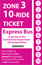 <b>10-Ride Ticket/Express Routes 917-950 Zone 3</b>