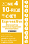 <b>10-Ride Ticket/Express Routes 917-950 Zone 4</b>