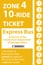 <b>10-Ride Ticket/Express Routes 17-27 Zone 4</b>