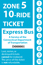 <b>10-Ride Ticket/Express Routes 17-27 Zone 5</b>