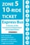<b>10-Ride Ticket/Express Routes 917-950 Zone 5</b>