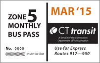 <b>Monthly Pass/Express Zone 5</b>