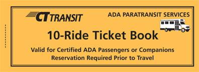 <b>10 Ride Ticket Book/ADA Paratransit</b>