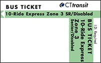 <b>10-Ride Ticket/Senior-Disabled | 3 Zones Express</b>