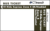 <b>10-Ride Ticket/Senior-Disabled | 4 Zones Express</b>