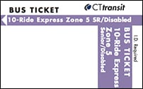 <b>10-Ride Ticket/Senior-Disabled | 5 Zones Express</b>