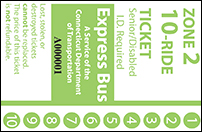 <b>10-Ride Ticket/Senior-Disabled | 2 Zones Express Routes Without Fare Boxes</b
