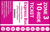 <b>10-Ride Ticket | 3 Zones Express Routes Without Fare Boxes</b>