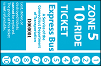 <b>10-Ride Ticket | 5 Zones Express Routes Without Fare Boxes</b>